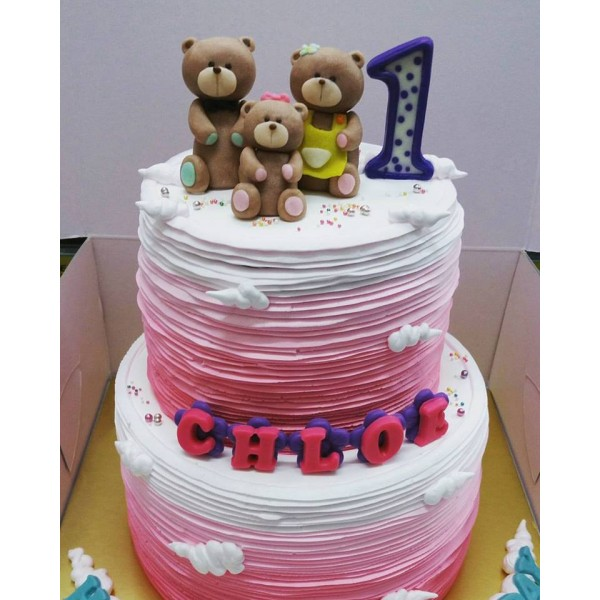 Teddy bear family theme